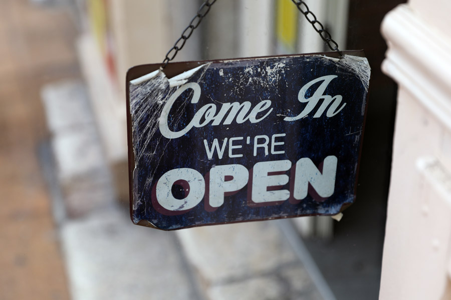 Business Insurance - Open Sign for Small Businesses
