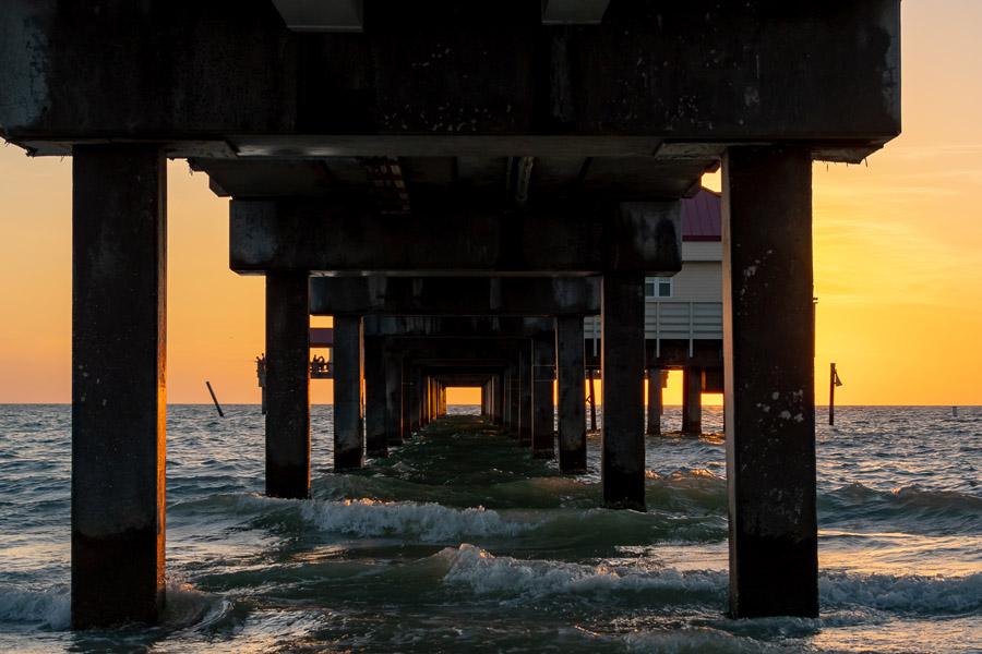 Client Portal - Under the Pier at Sunset