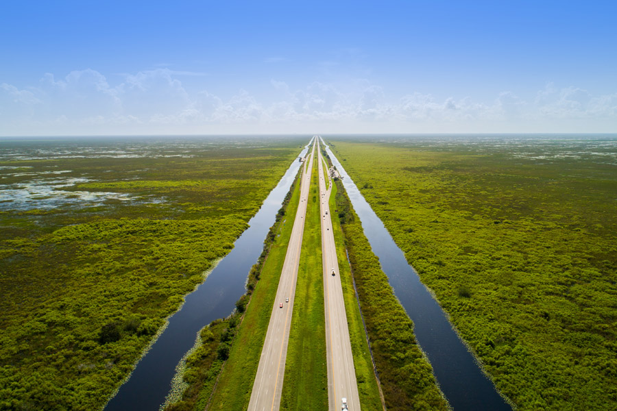 Contact Us - Florida Insurance Roadway in the Everglades