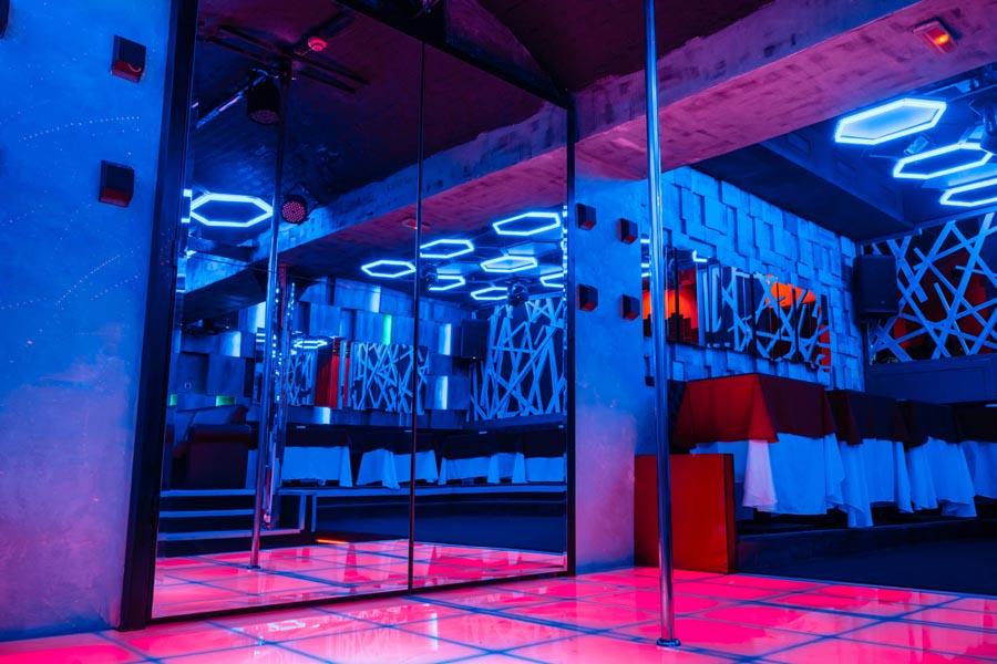 Gentlemen's Club Insurance - Modern Dance Floor with Strip Pole